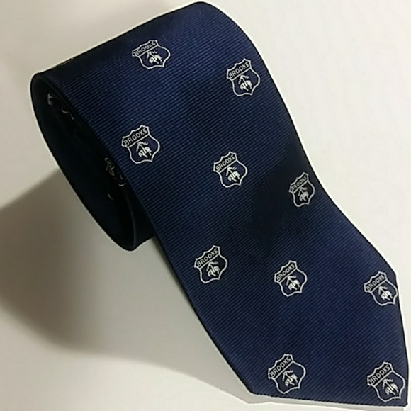 Brooks Brothers Golden Fleece Navy Medallion Tie